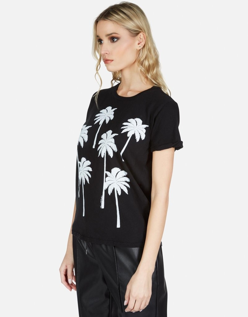 Lauren Moshi Edda S/S Vintage Tee - Palm Trees