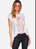 Lauren Moshi Croft S/S Vintage Tee White Britney Spears