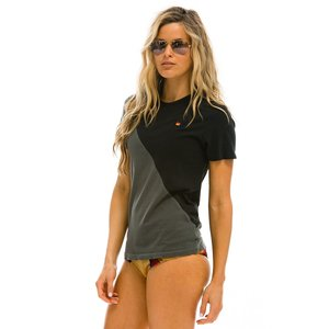 Aviator Nation Glider Crew Tee Blk/Charcoal