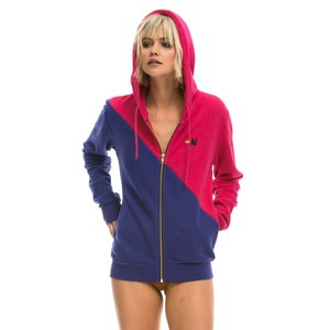 Aviator Nation Glider Zip Hoodie Rose/Parachute Purple