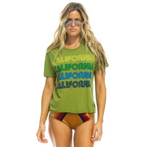 Aviator Nation California Repeat Boyfriend Tee Grassy