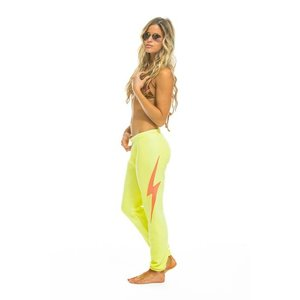 Aviator Nation Bolt Stitch Womens Sweatpant Neon Yellow