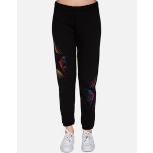 Lauren Moshi Brynn Long Sweatpant Black Bright Starburst