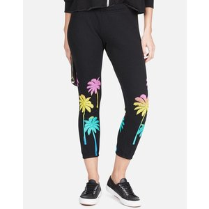 Lauren Moshi Alana Crop Sweatpant - Neon Palm Trees