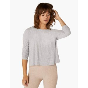 Morning Light Cropped Pullover Silver Mist