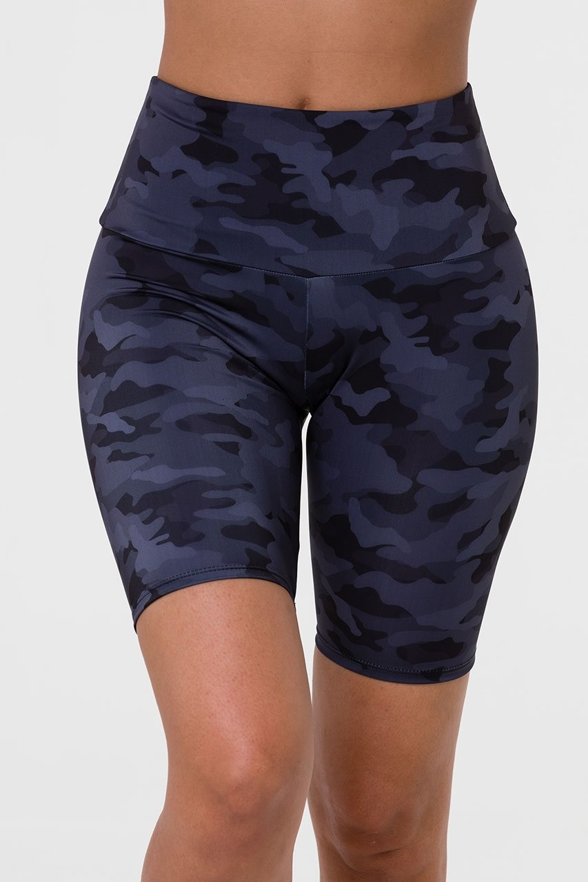 Onzie High Rise Bike Short Black/Gray Camo