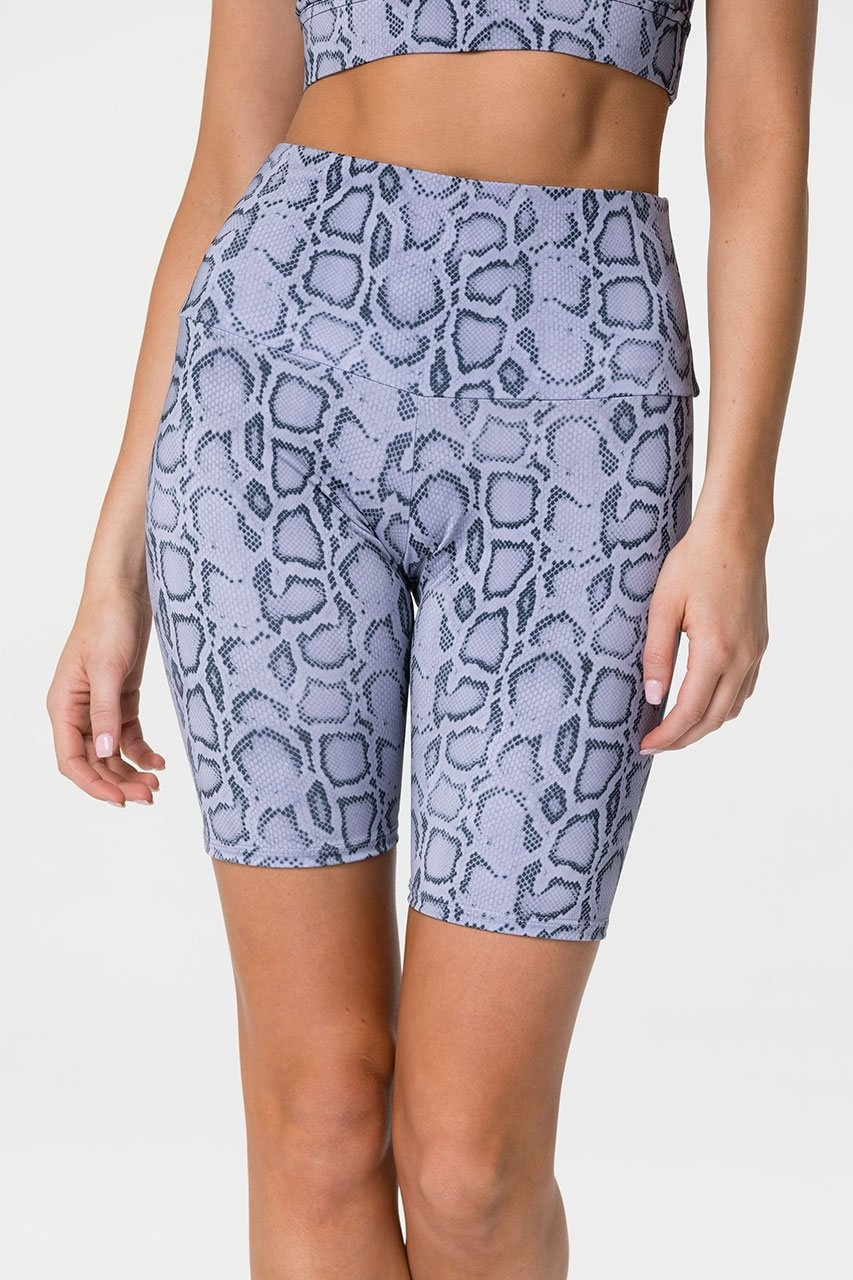 Onzie High Rise Bike Short Lavender Cobra
