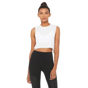 Mirage Crop Tank White