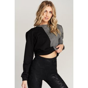 Strut This Allure Sweatshirt Black/Grey OS