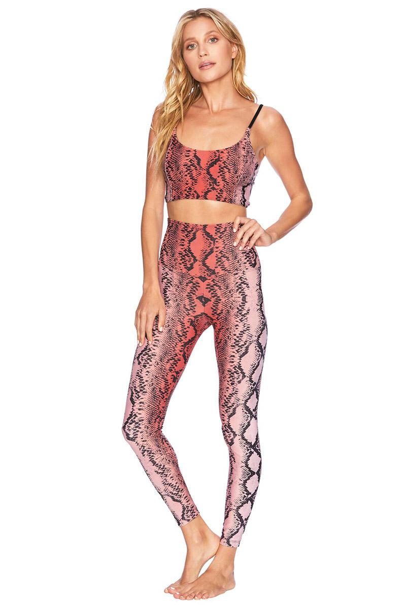 Beach Riot Snake Legging Pink