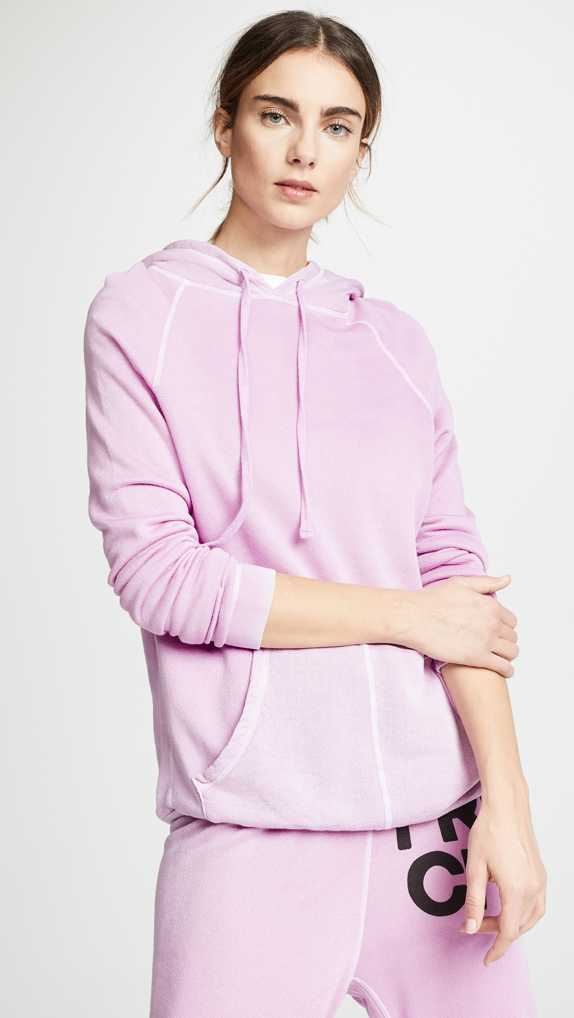 Free City Superflufflux Hoodie PinkGumm/Glass S