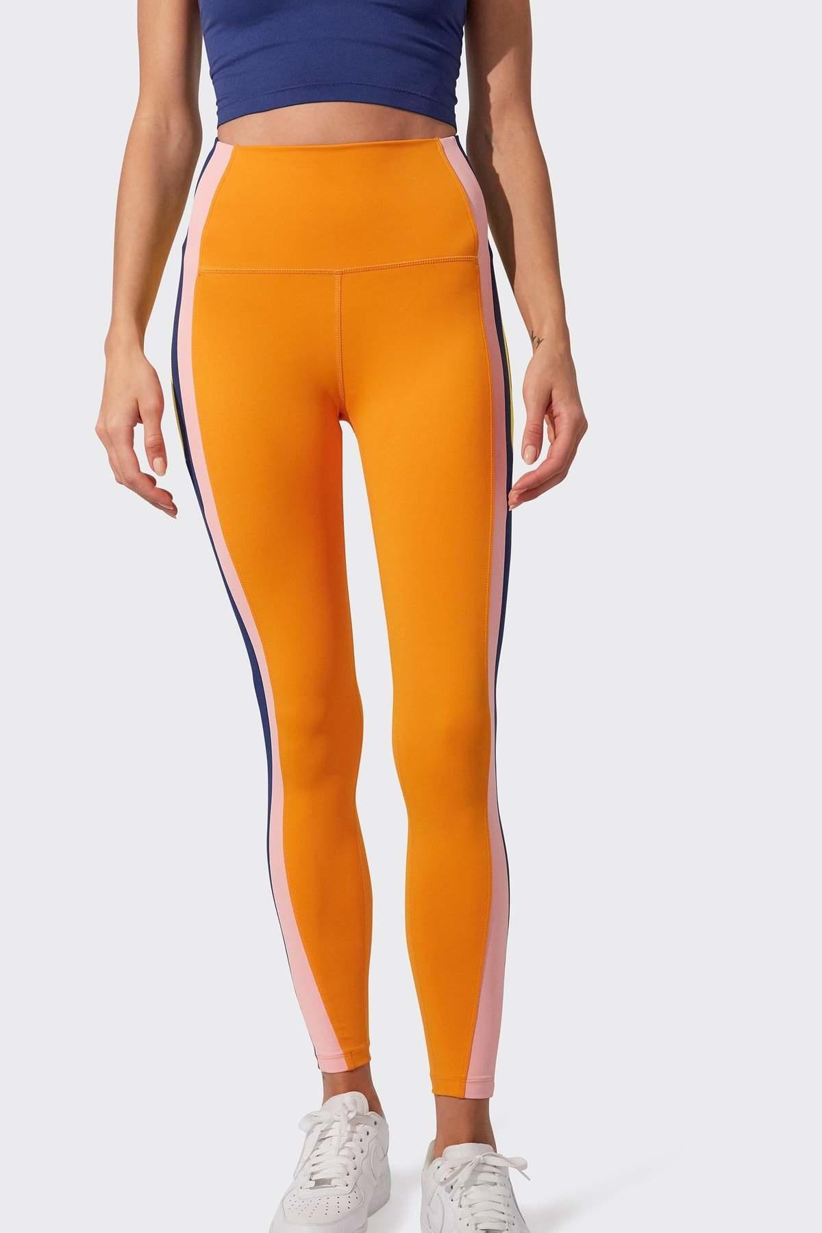 Splits59 Jaden HW 7/8 Legging Nectarine/Pink Multi