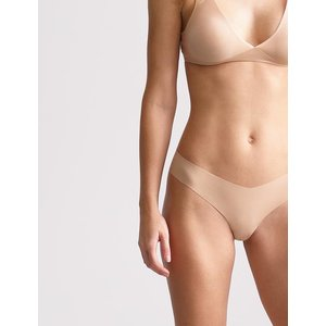 Classic Solid Thong Beige
