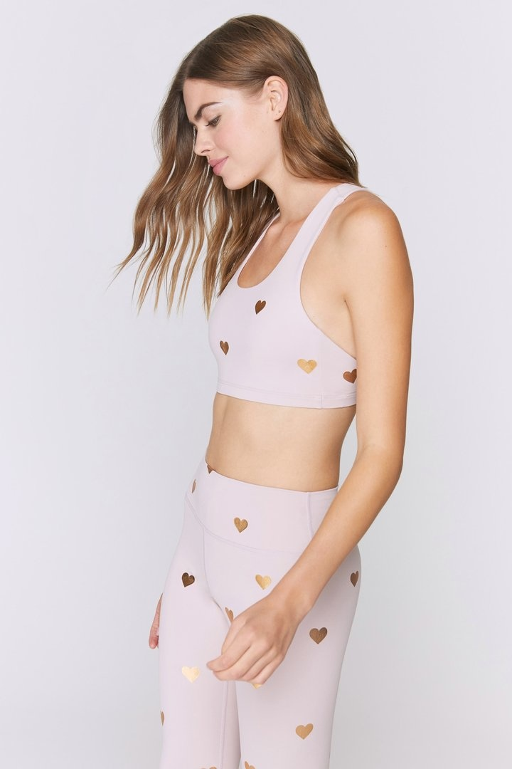 Spiritual Gangster Hearts Reana Sports Bra 2.0 Rose Quartz