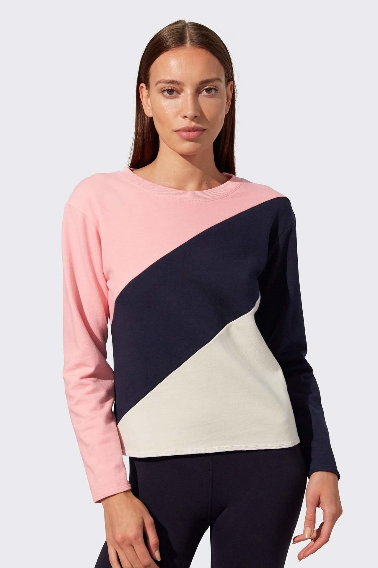 Splits59 Tamara Sweatshirt Pink/Indigo Multi