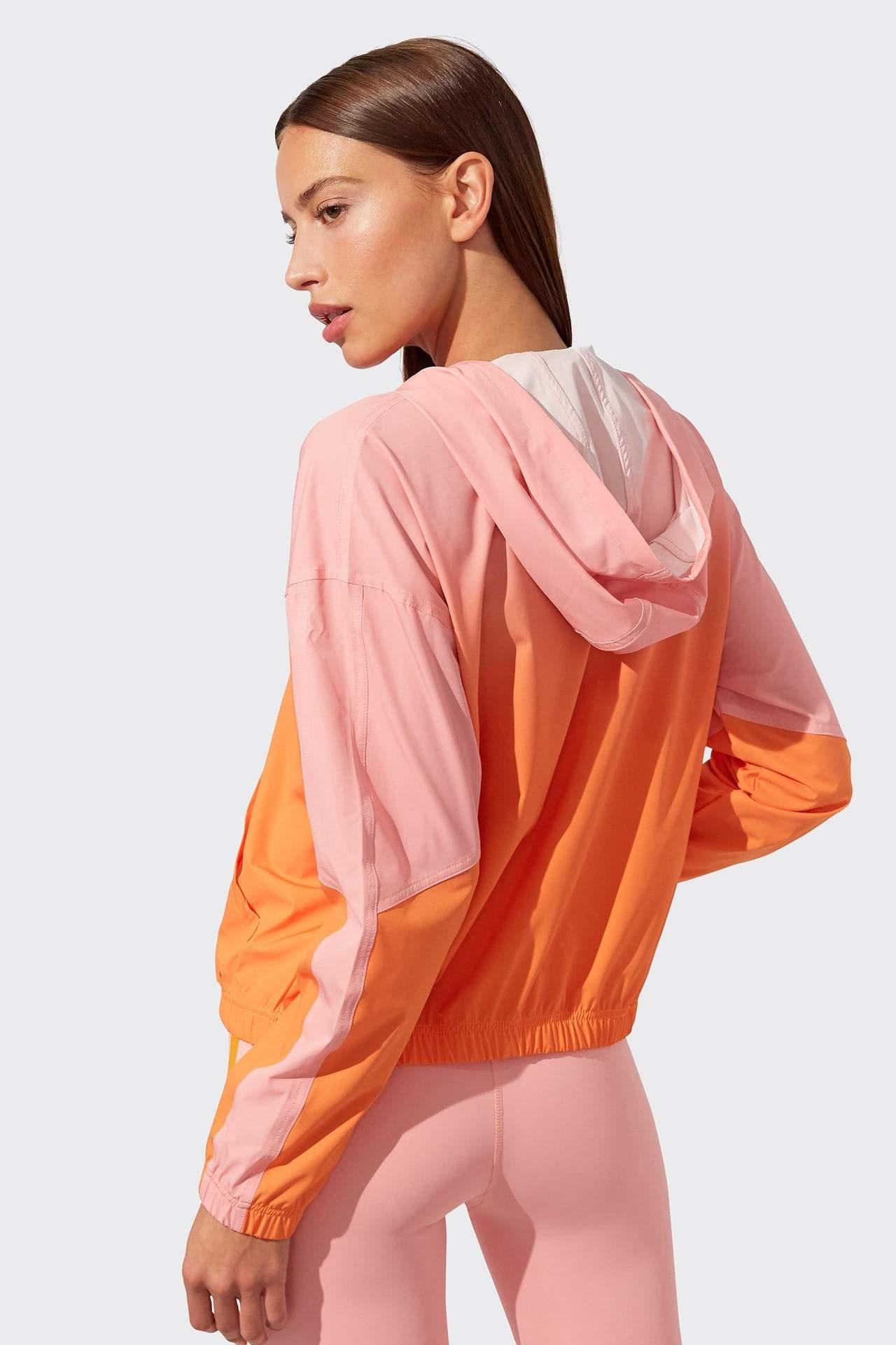 Splits59 Elsie Windbreaker Pink/Nectarine Ombre