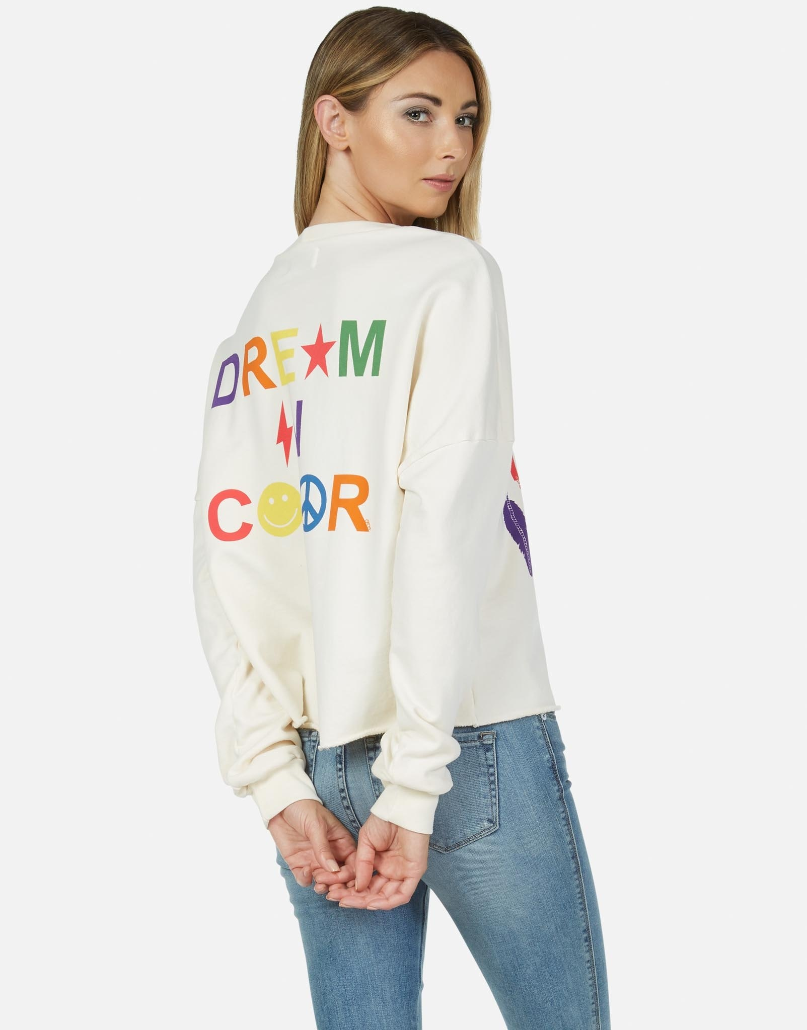 Lauren Moshi Lee Crop P/O Dream In Color Rainbow