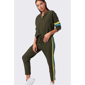 Splits59 Andi Sweatshirt Army/Lightblue Multi