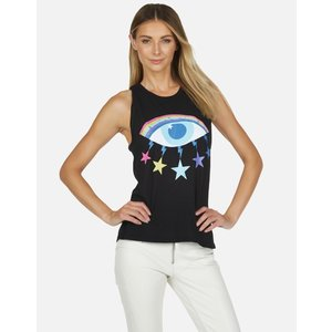 Lauren Moshi Ashlin Tank - Crystal Cosmic Rainbow Eye