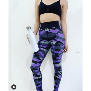 Ultracor Ultra High Neon Camo Legging Neon Purple