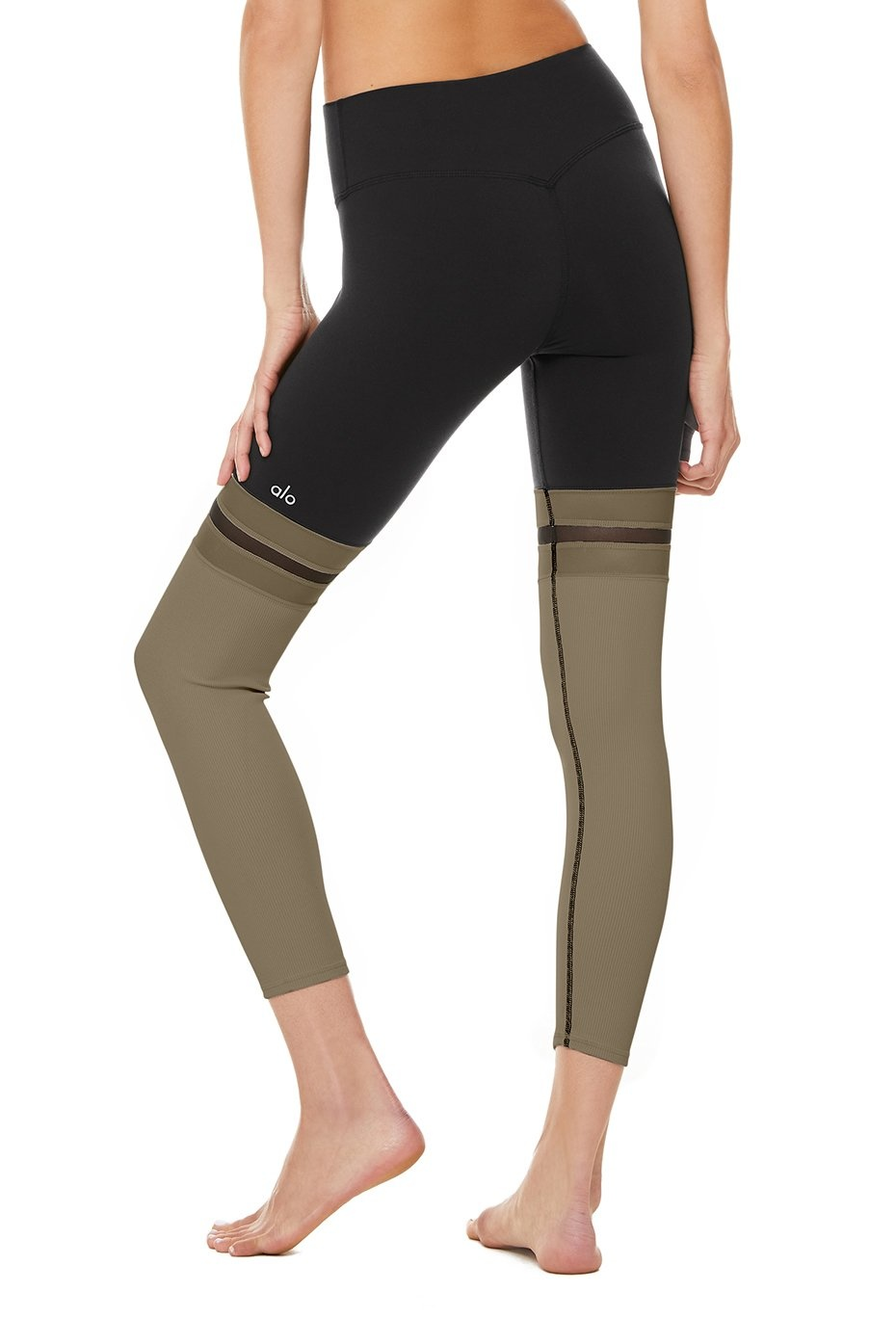 7/8 Player Legging Black/Olive Branch