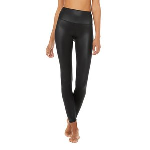 7/8 HW Shine Legging Black Shine