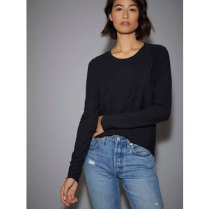 Nation Devi Tucked Up Easy Tee Jet Black