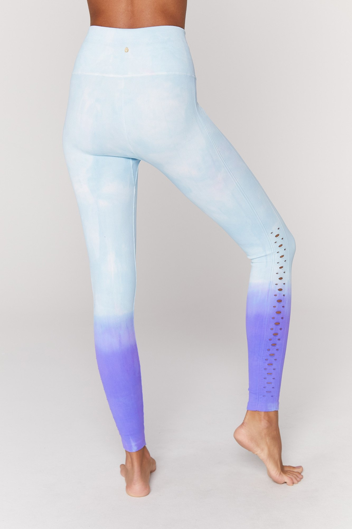 Spiritual Gangster Self Love Legging Blue Purple Dip Dye