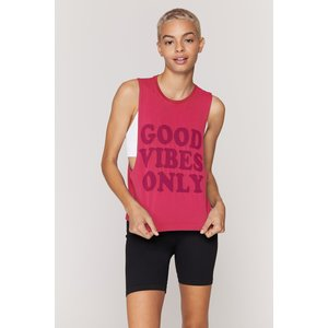 Spiritual Gangster Good Vibes Only Active Flow Tank Watermelon