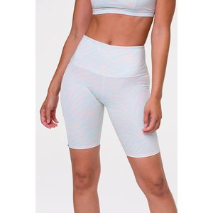 Onzie High Rise Bike Short Pastel Zebra
