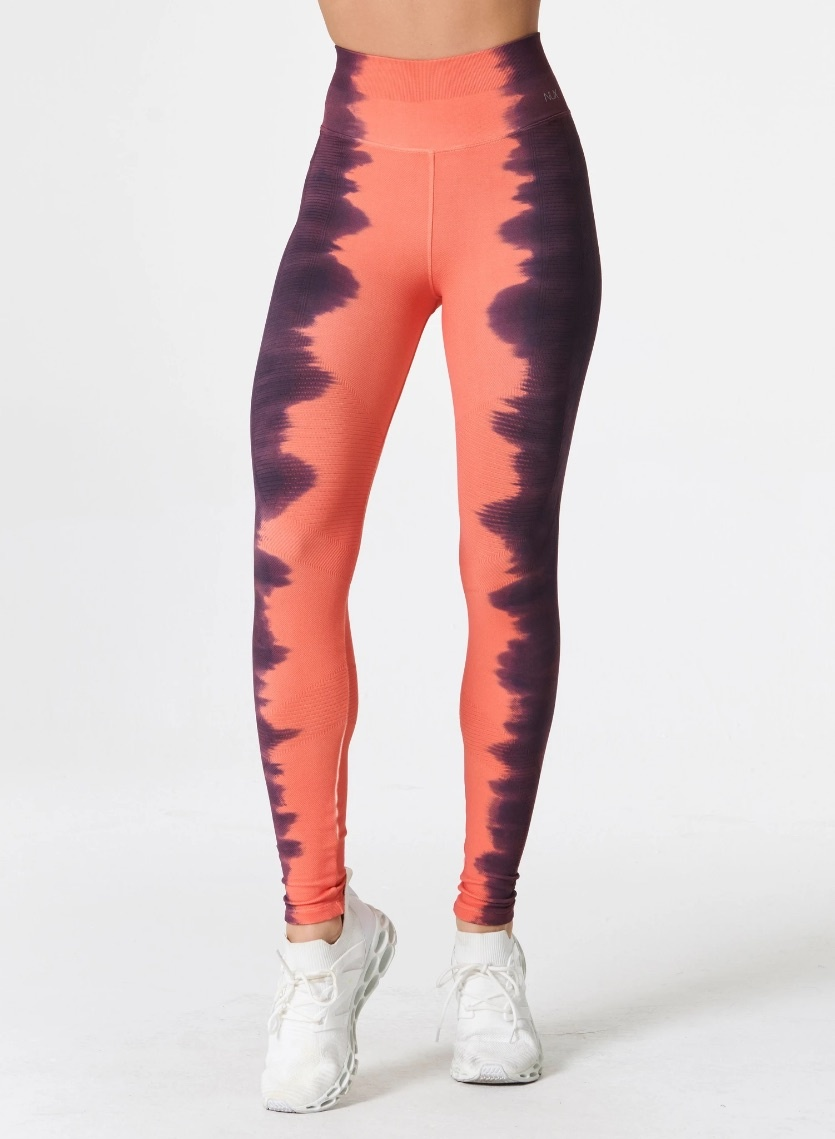 One By One Legging Coral/Astral Aura
