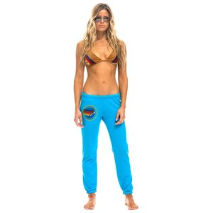 Aviator Nation AN Womens Sweatpant Neon Blue