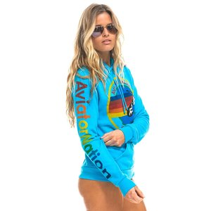 Aviator Nation AN Pullover Hoodie Neon Blue