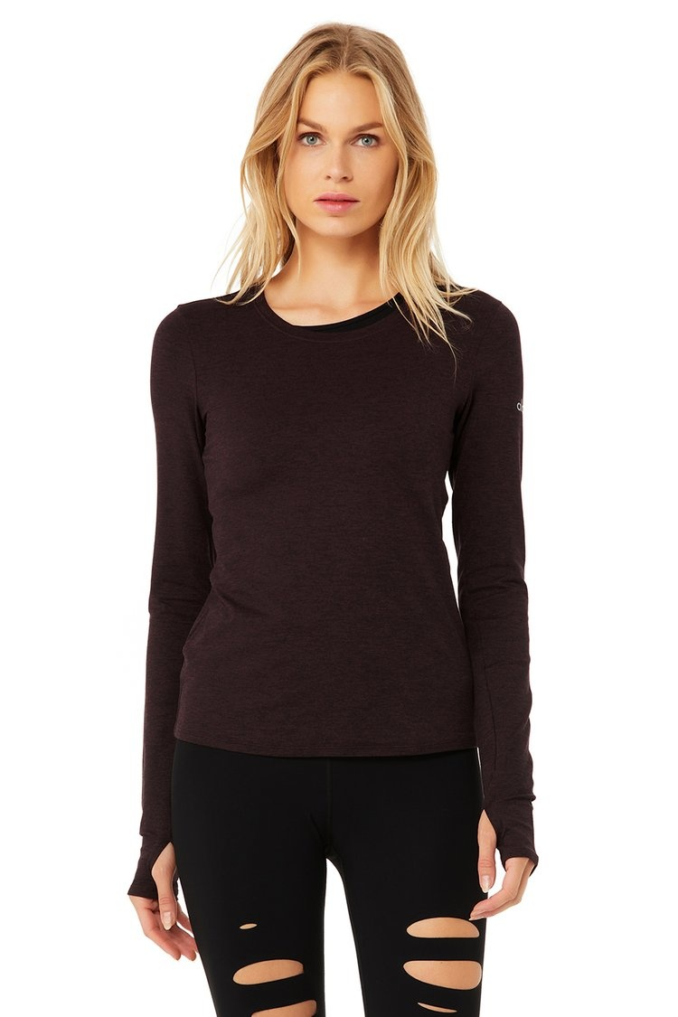 Finesse Long Sleeve Top Black