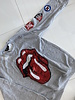 Sojara Grey Rolling Stones Red Sequin Tongue Sweatshirt