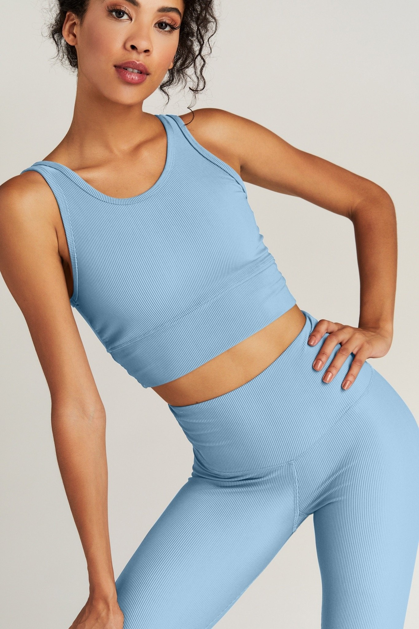 Strut This Kendall Ankle Baby Blue Rib OS