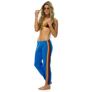 Aviator Nation 5 Stripe Womens Sweatpant Cobalt