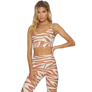Beach Riot Leah Top Cloud Cream Zebra