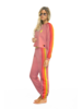 Aviator Nation 5 Stripe Womens Sweatpant Petal/Neon