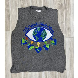 Lauren Moshi Kinzington Tank World Eye Love Grey