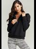 Strut This Poppy Sweatshirt Black