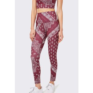 Splits59 Bardot 7/8 High Waist Burgundy Bandana