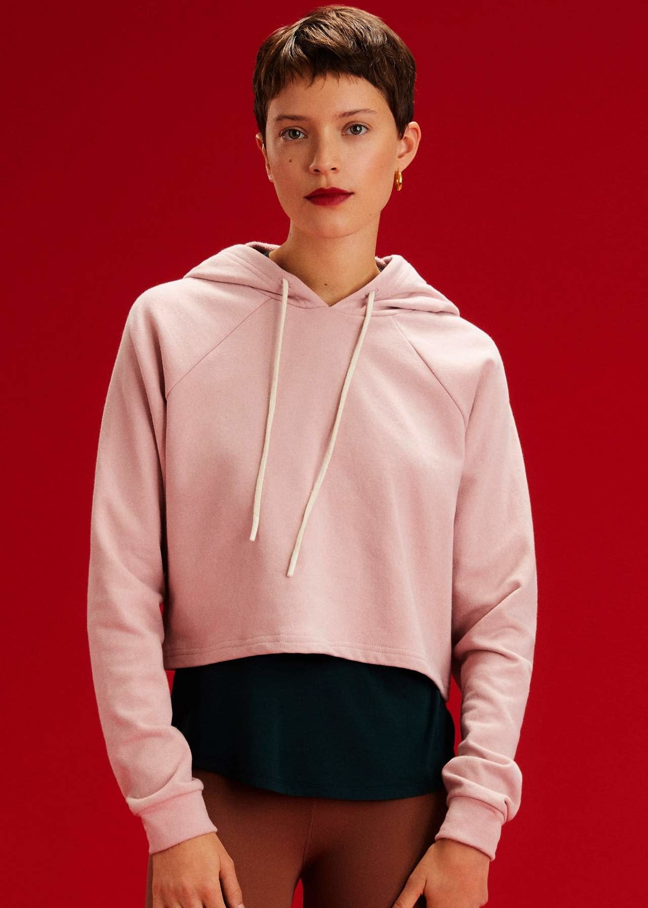 Splits59 Zoey French Terry Hoodie Blush