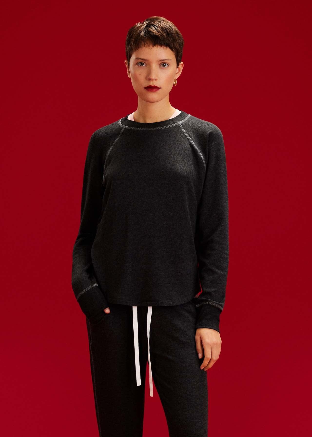 Splits59 Warm Up Fleece Sweatshirt DK HTHR Grey