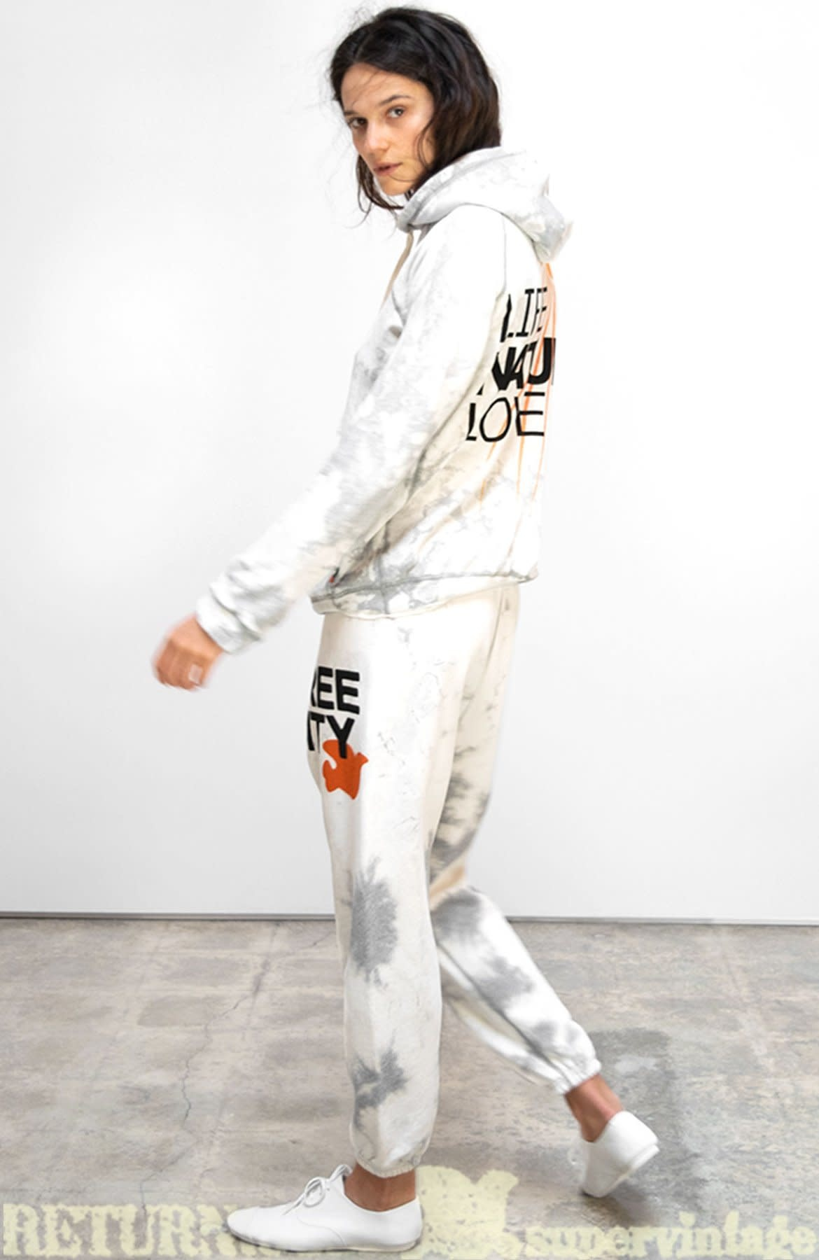 Free City SUPERBLEACHOUT OG sweatpant - whitestorm