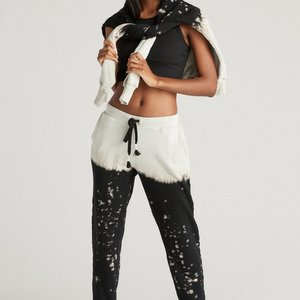 Strut This Frenchie Jogger Midnight Splatter