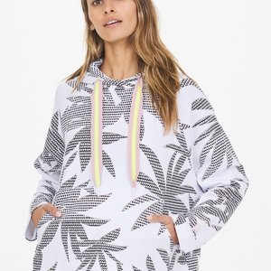 The Upside Lennox Hoodie White Palm