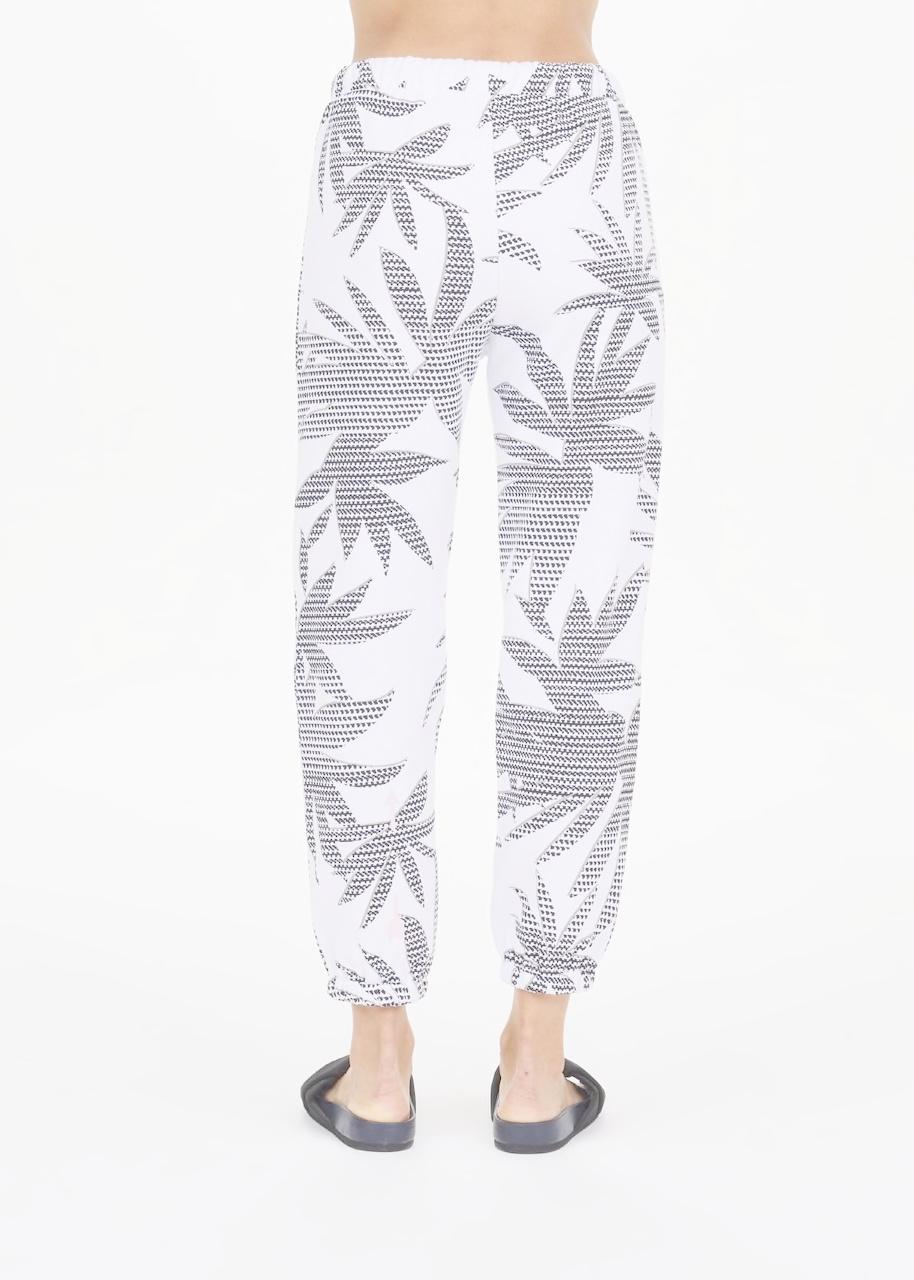 The Upside Lennox Track Pant White Palm