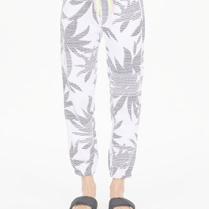 The Upside Lennox Track Pant White Palm