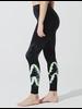Electric & Rose Sunset Legging Chevron Onyx/Neon
